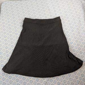 Boston Proper Black A-line Knee Length Skirt